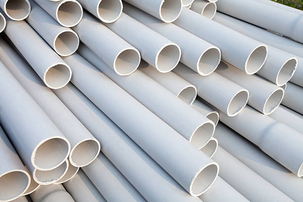 PVC pipes stock photo