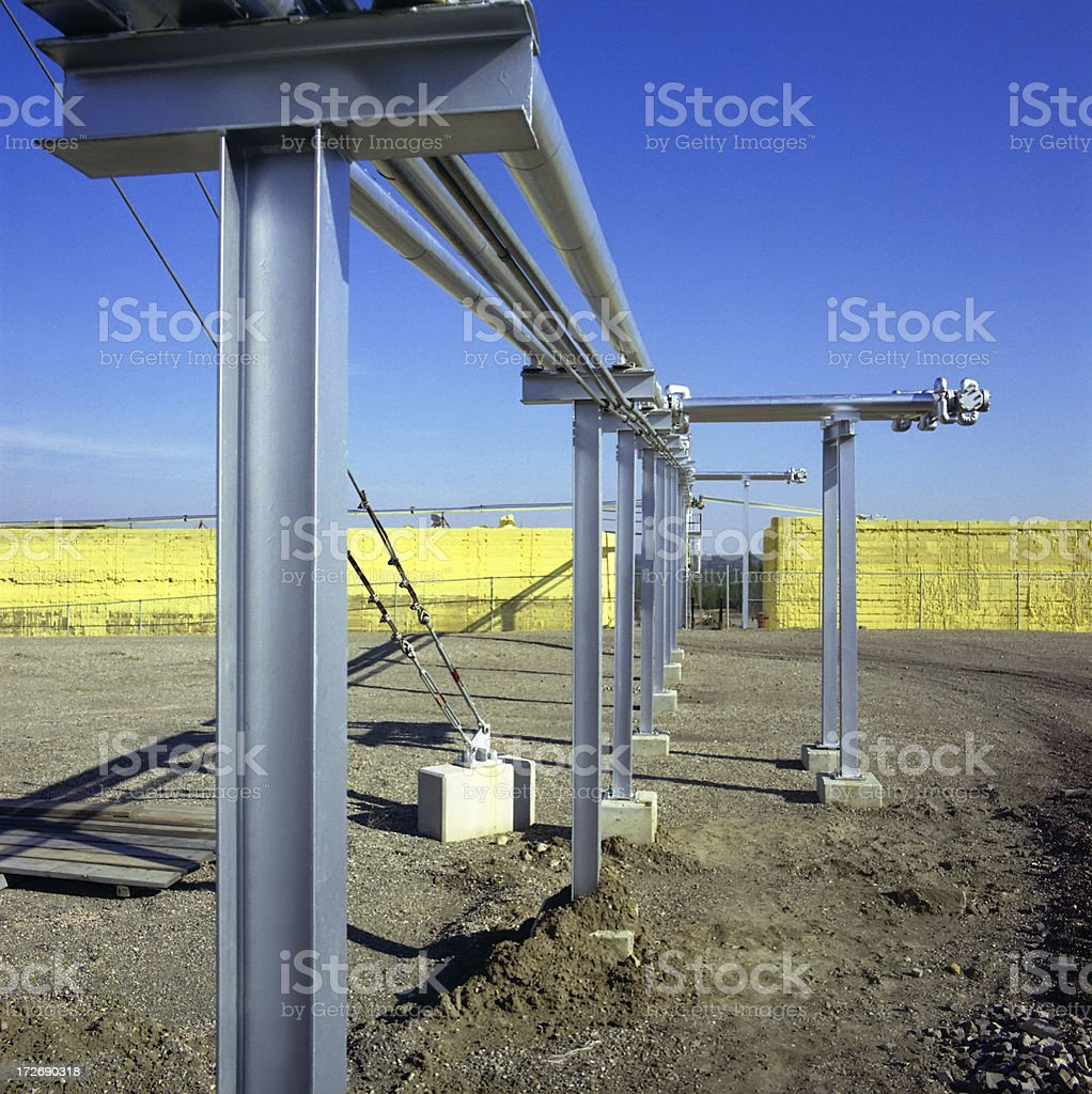 Pipes Transmitting Liquid Sulphur royalty-free stock photo