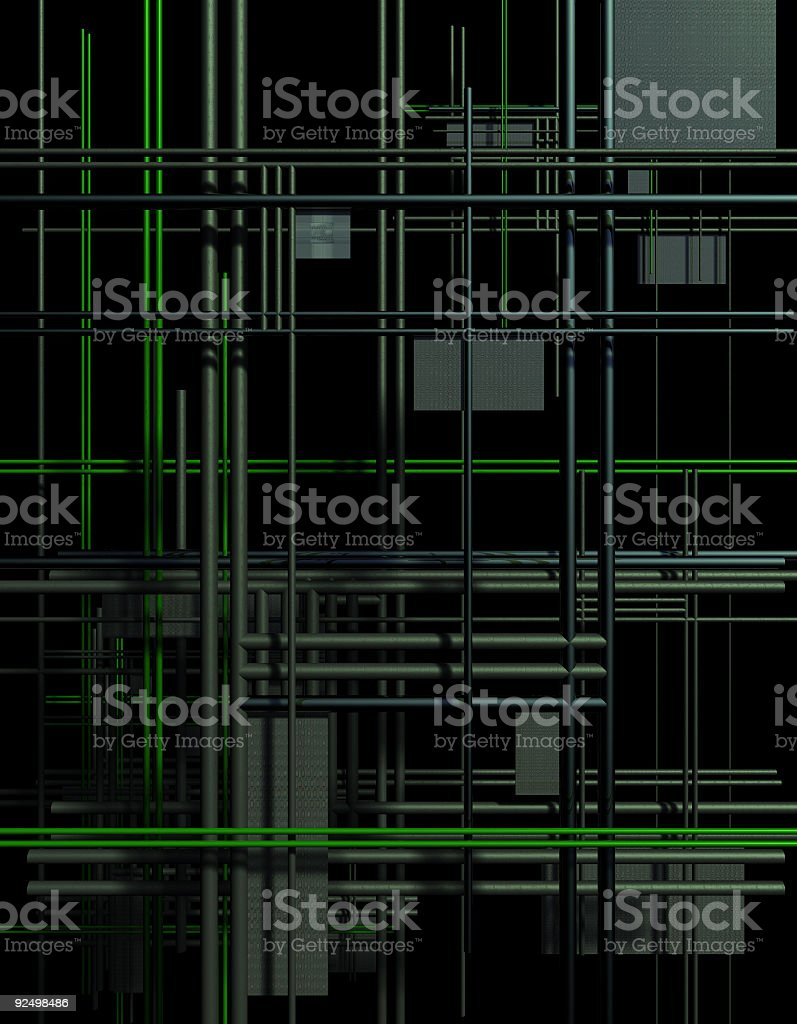PipesNetworkV1 royalty-free stock photo