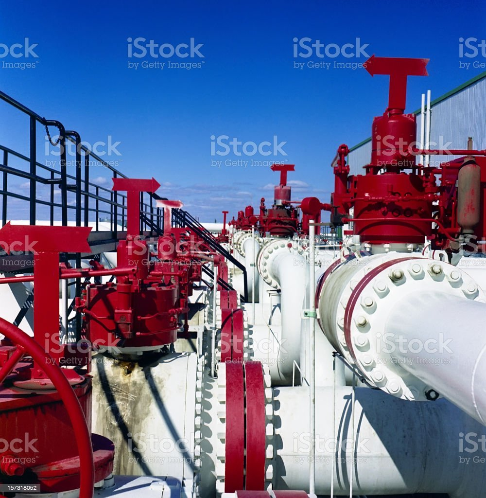 Pipes,Valves and Flanges royalty-free stock photo