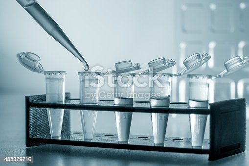 istock Pipette and test tubes 488379716