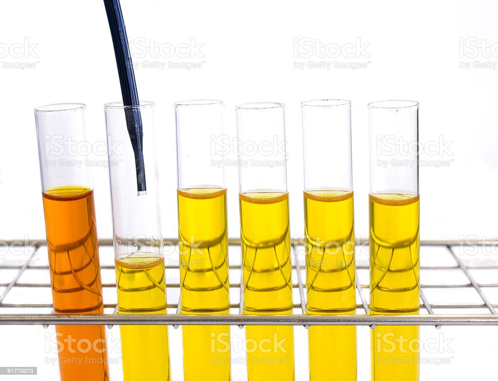 Pipette and test tubes royalty-free stock photo
