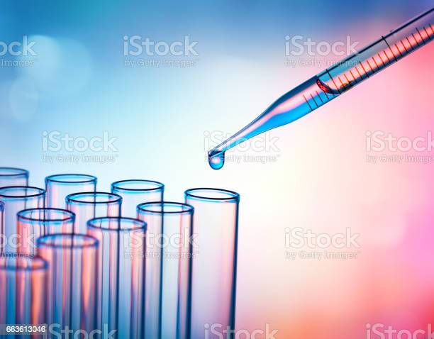 Test Tubes And Pipette - Research In Laboratory