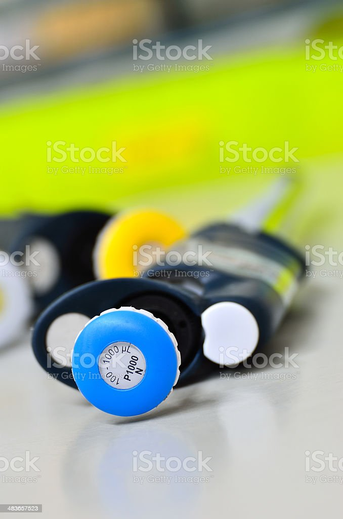 Pipette in laboratory royalty-free stock photo