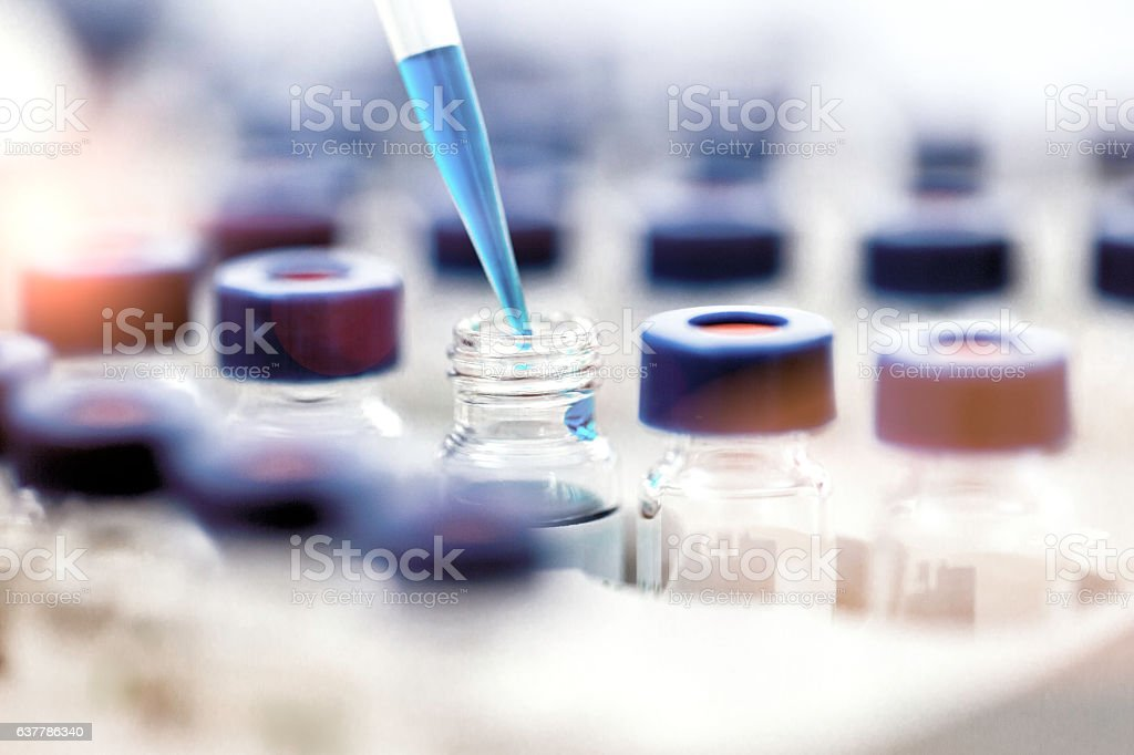 Pipette stock photo