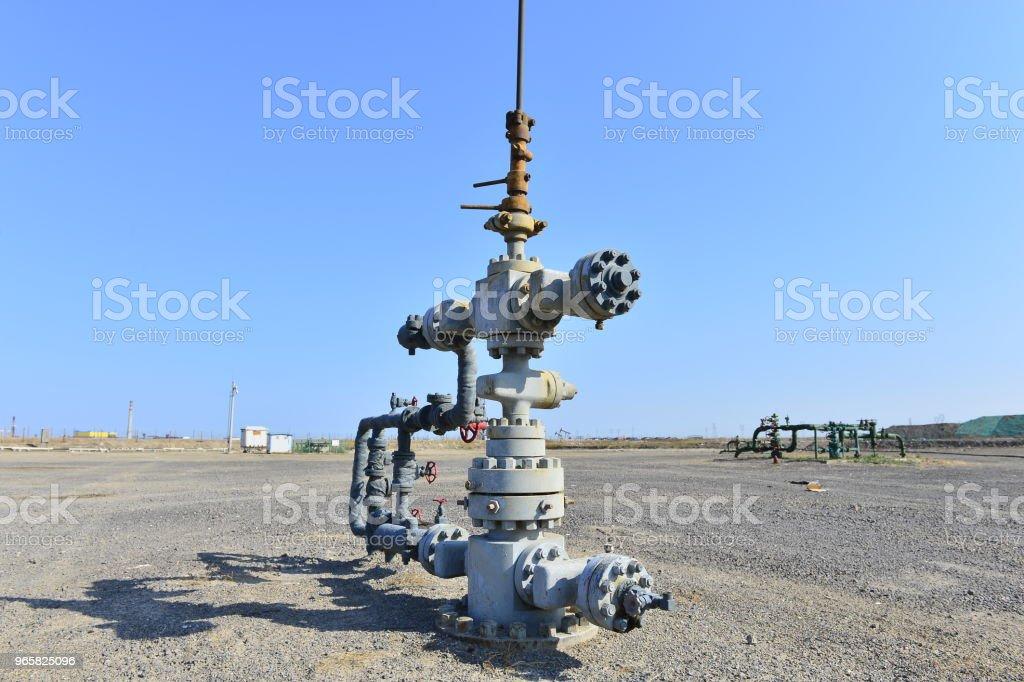 Leidingen en ventielen - Royalty-free Benzine Stockfoto