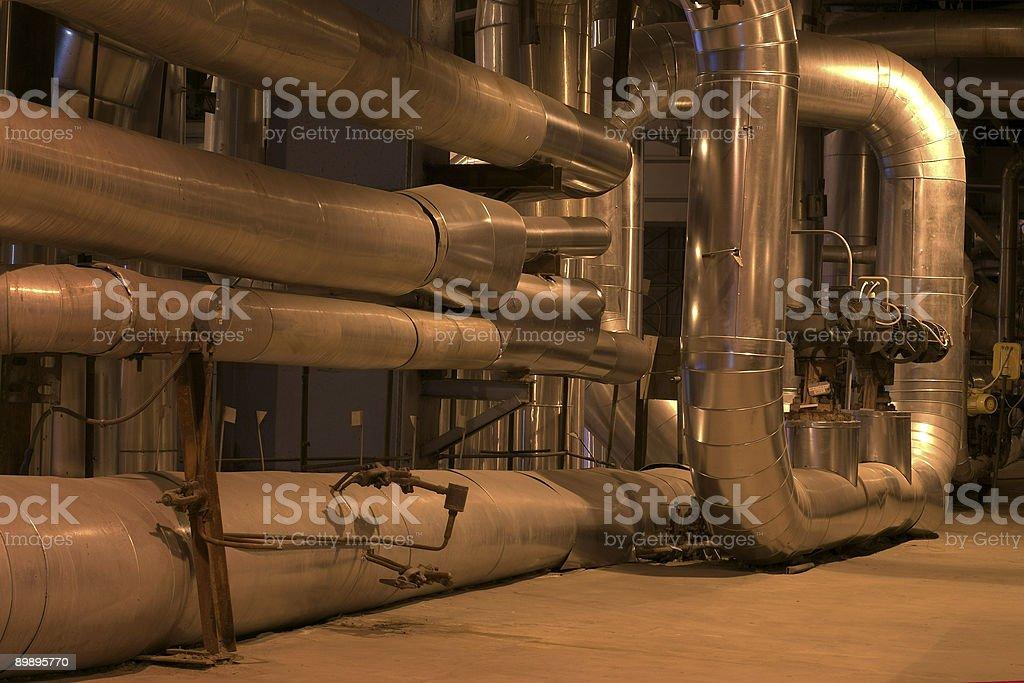 piping at a power plant royalty-free stock photo