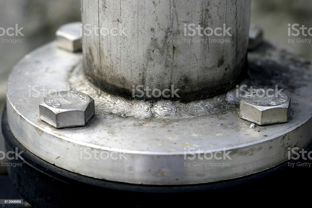 Piping Flange Connection stock photo