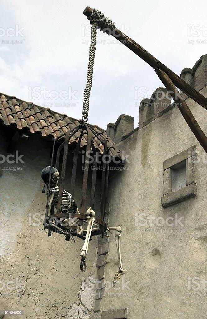 Piracy skeleton stock photo