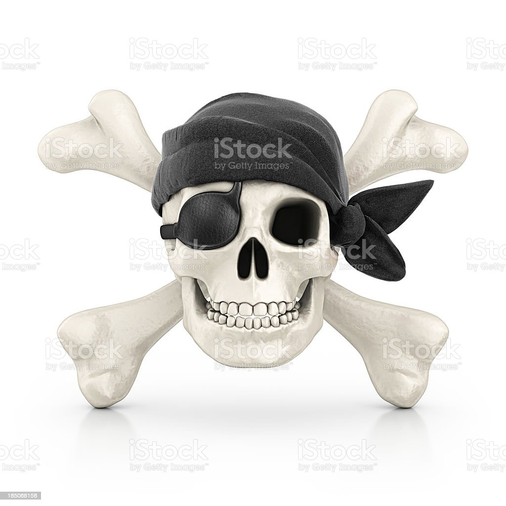 piracy symbol stock photo