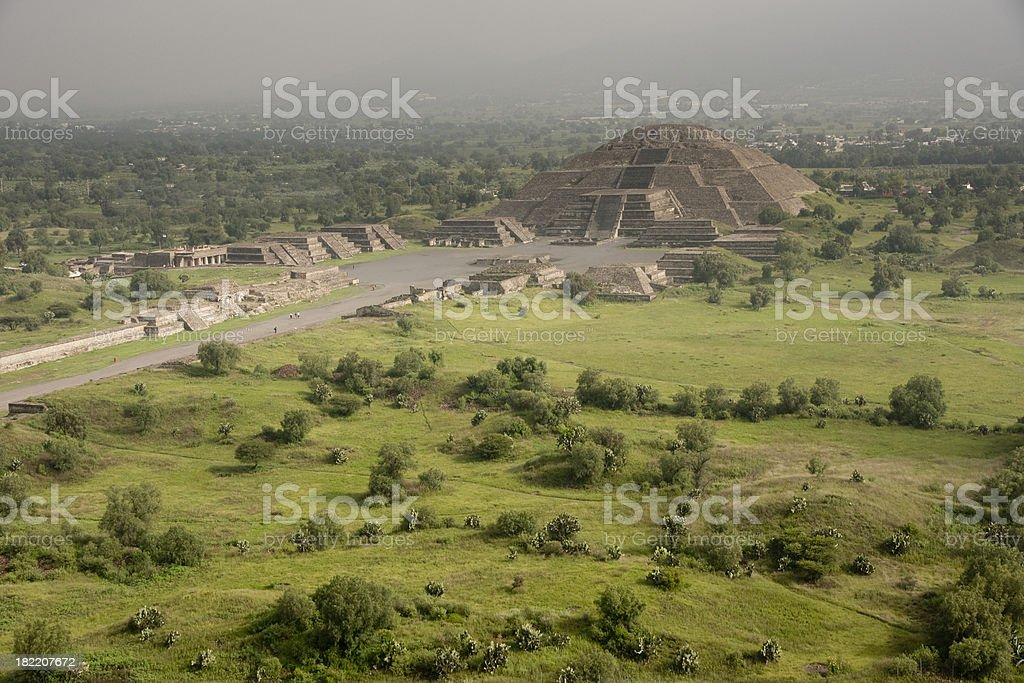 Piramid of the Moon Teotihuacan Mexico stock photo
