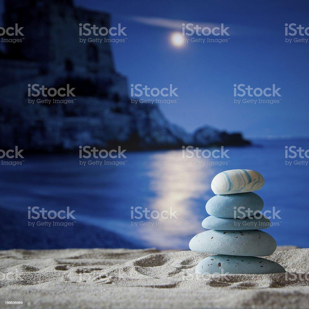 Piramid Stone on beach in Amalfi Coast, Italy royalty-free stock photo