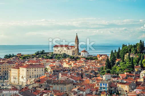 The picture shows the sea line and coast view of the old city part that was built on the foundations of the Roman Empire.