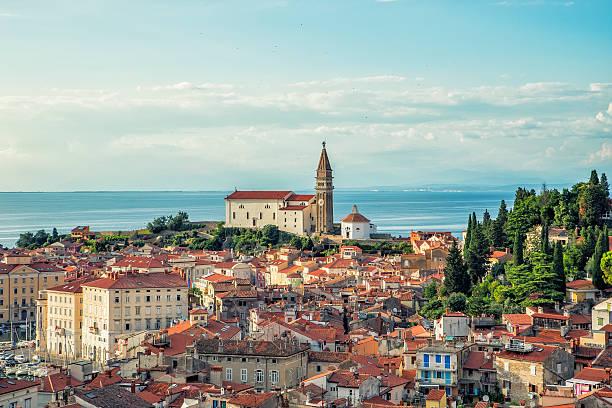 piran-pirano - slovénie photos et images de collection