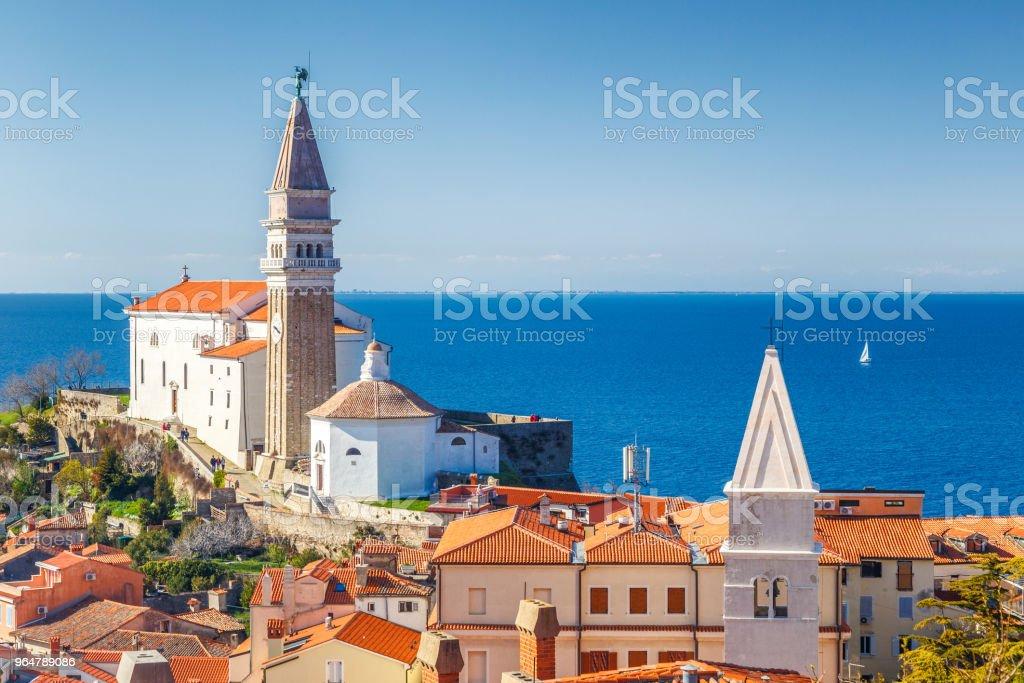 Piran town on Adriatic sea. royalty-free stock photo