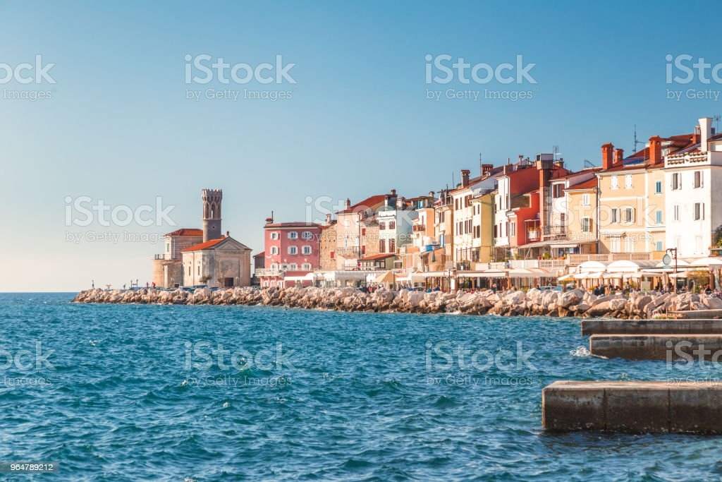 Piran town on Adriatic sea. royalty-free stock photo