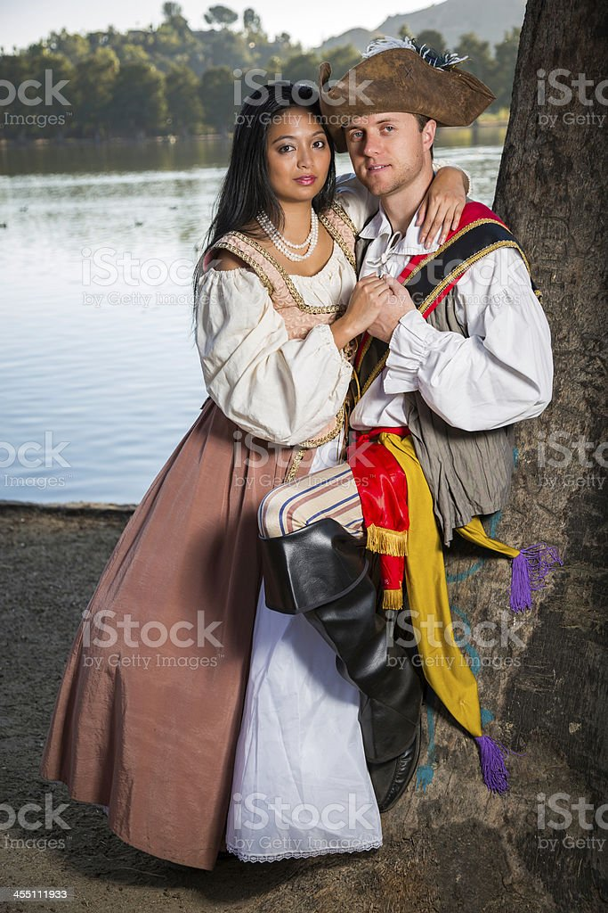 Pirate and Wench stock photo
