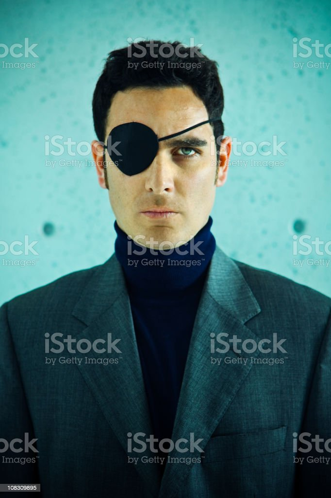 Pirate businessman stock photo