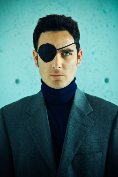 Pirate businessman  costume eye patch stock pictures, royalty-free photos & images