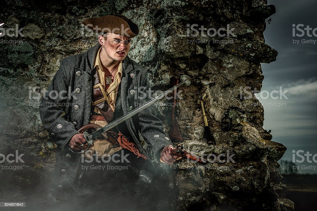 Pirate Captain stock photo