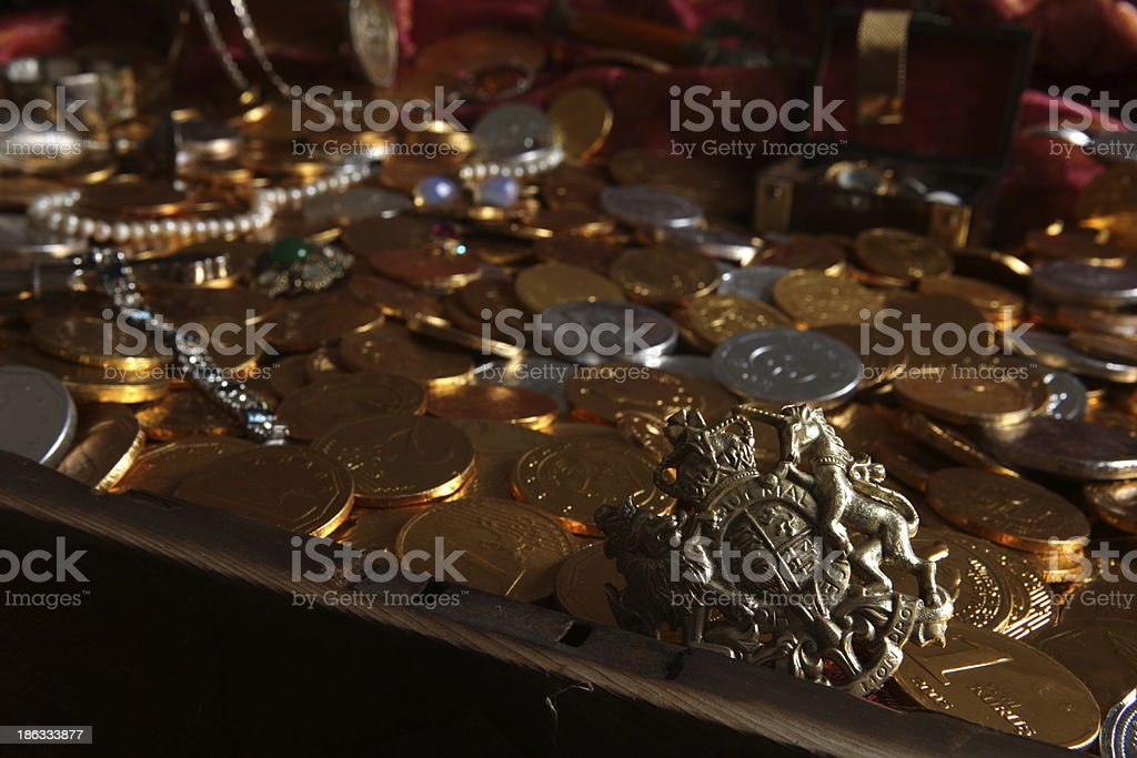 pirate chest stock photo