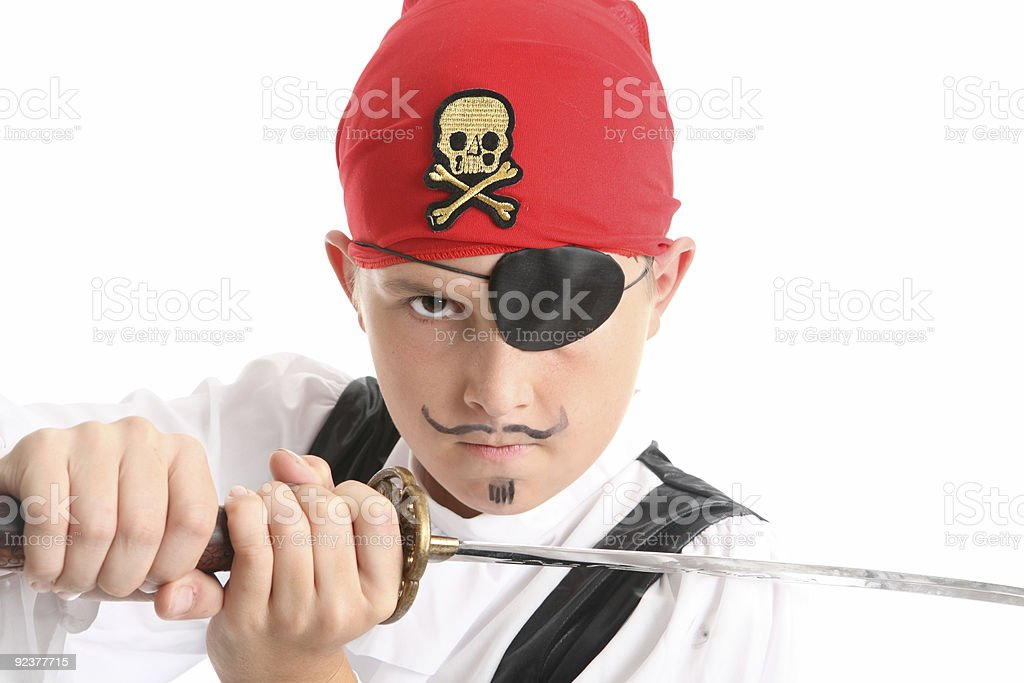 Pirate closeup royalty-free stock photo