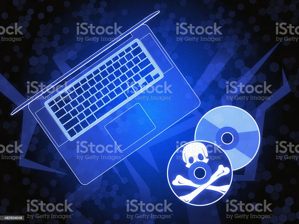 Pirate Computer Disc stock photo