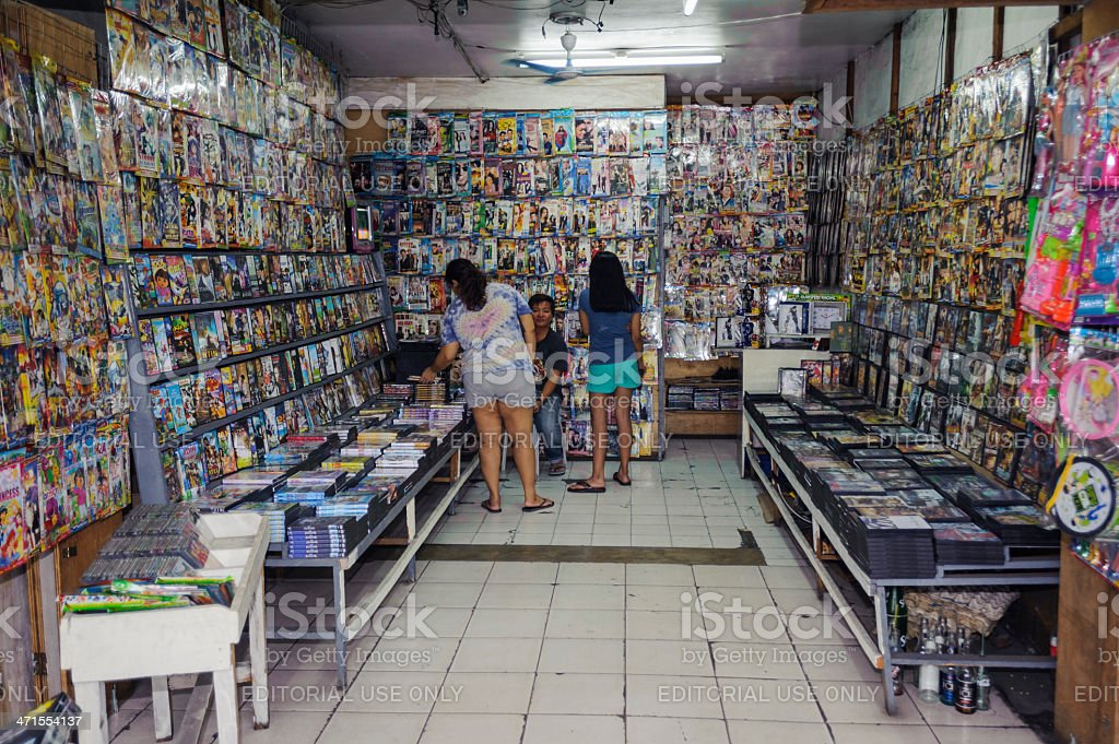 Pirate Dvd Shop In The Philippines Stock Photo - Download Image Now