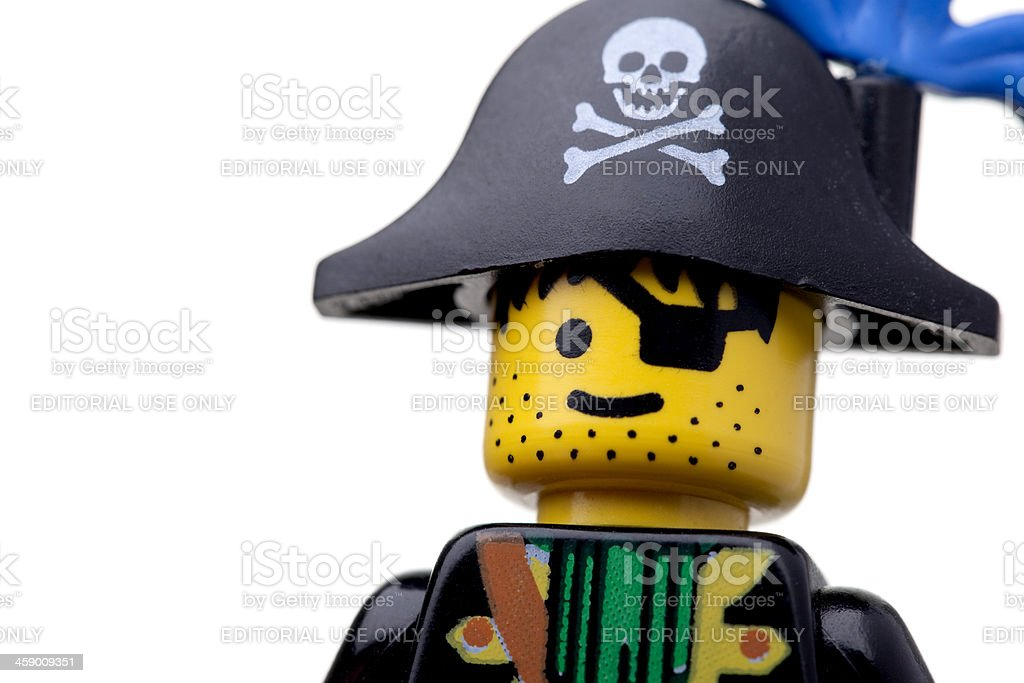 LEGO Pirate figure royalty-free stock photo