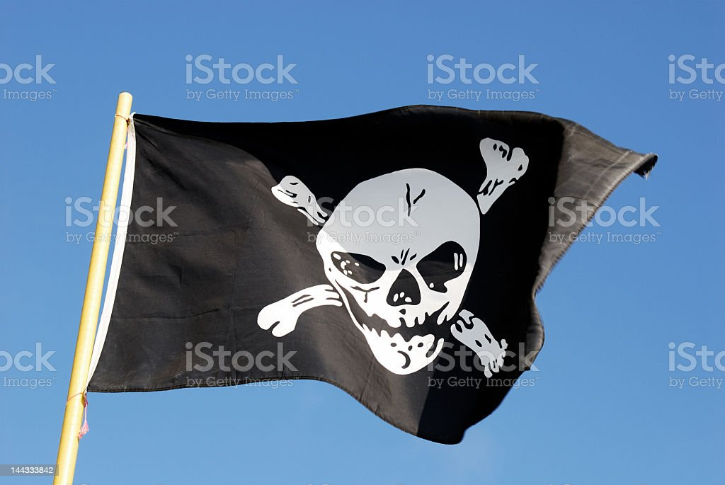 Pirate Flag I - Jolly Roger royalty-free stock photo