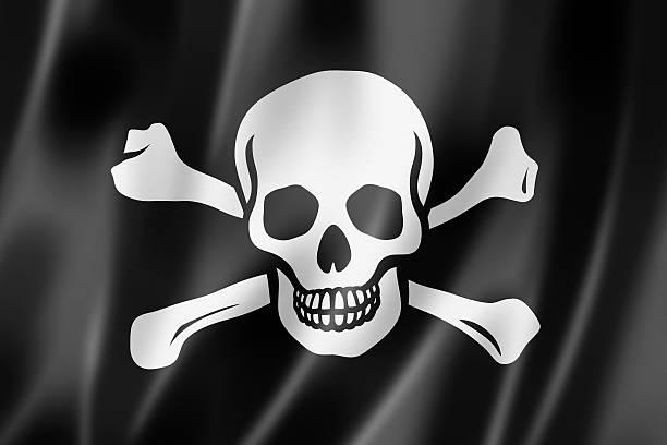 Bandera pirata, Jolly Roger - foto de stock
