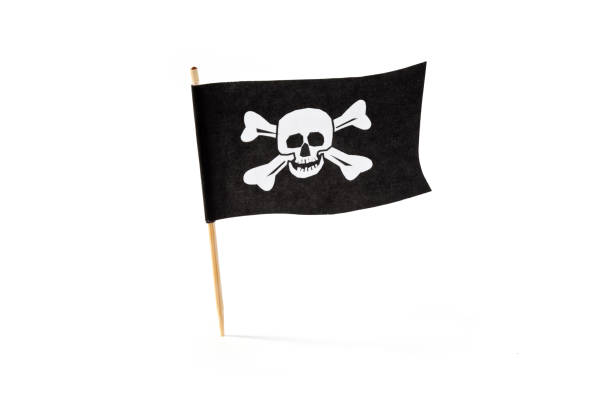 pirate flag - swashbuckler stock photos and pictures
