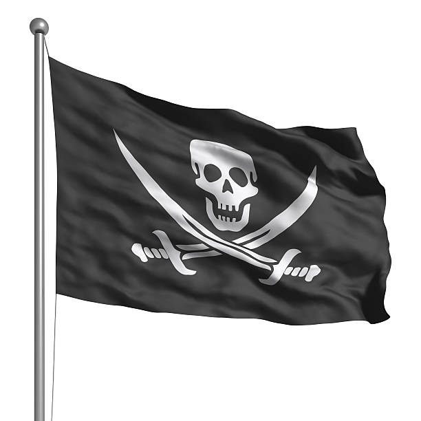 Bandera pirata (aislado - foto de stock