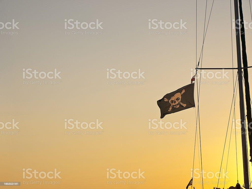 Bandera pirata - foto de stock