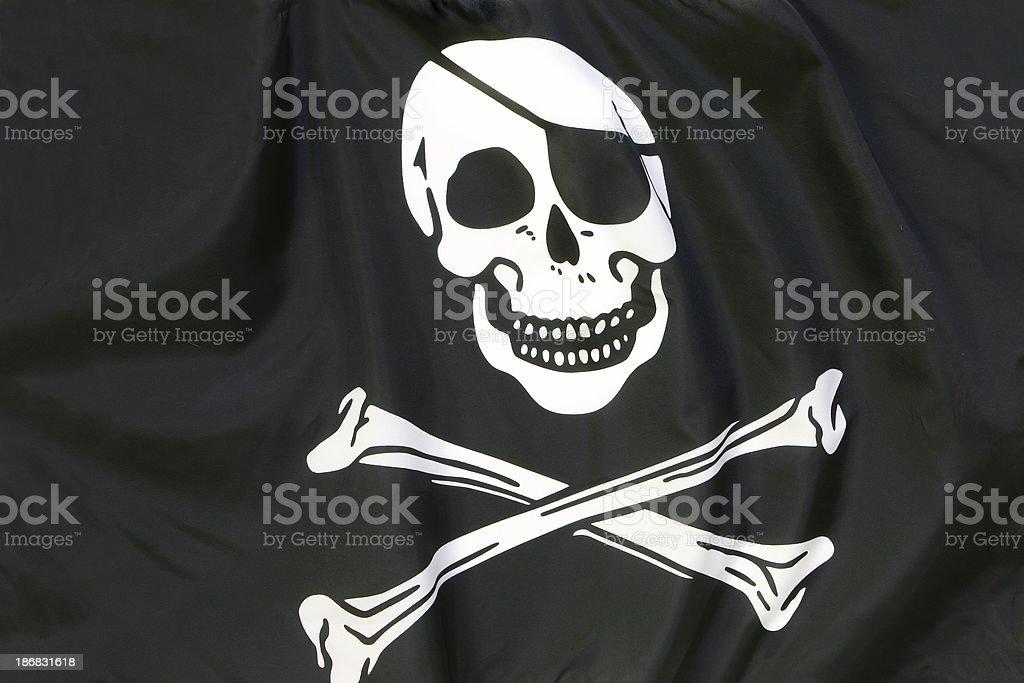 Pirate Flag royalty-free stock photo