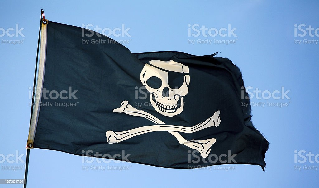 Bandeira de Pirata - foto de acervo