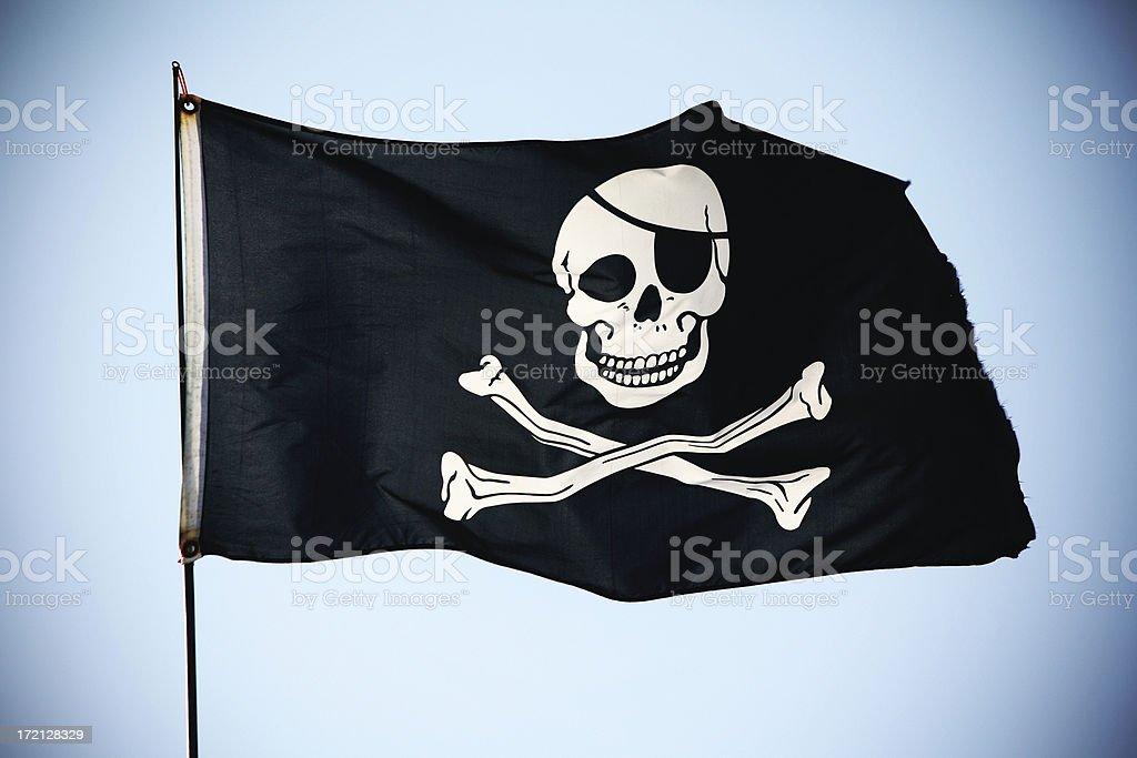 Bandera pirata XL - foto de stock