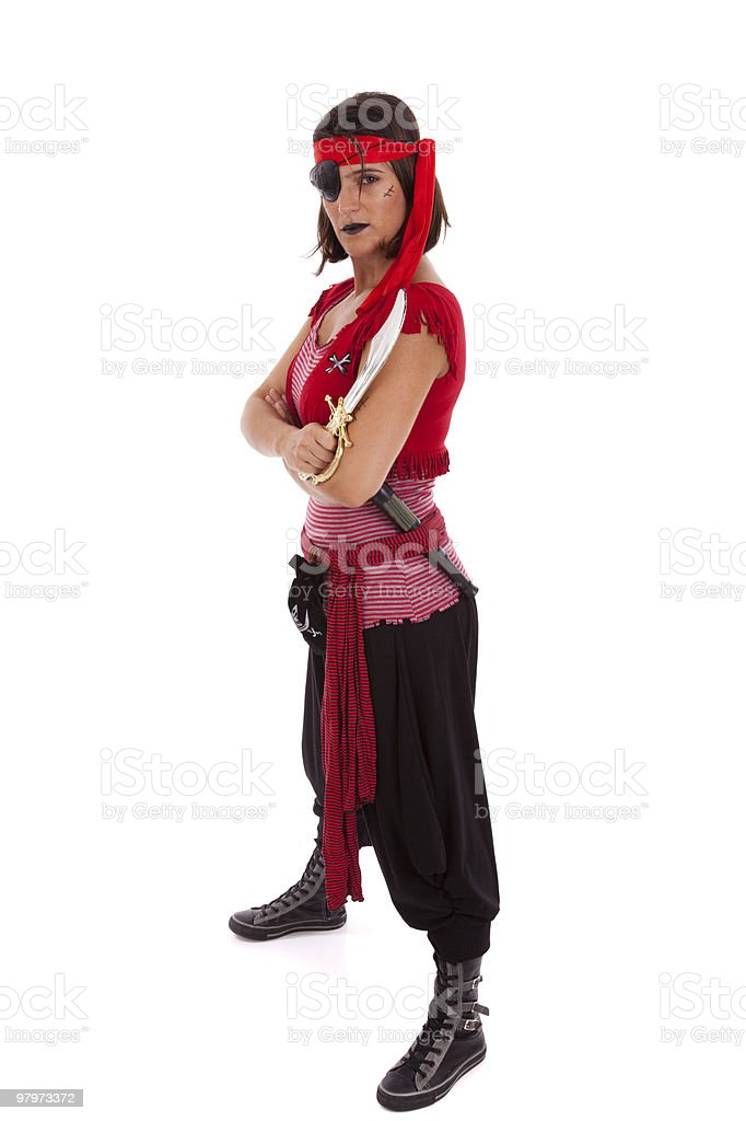 Pirate girl royalty-free stock photo