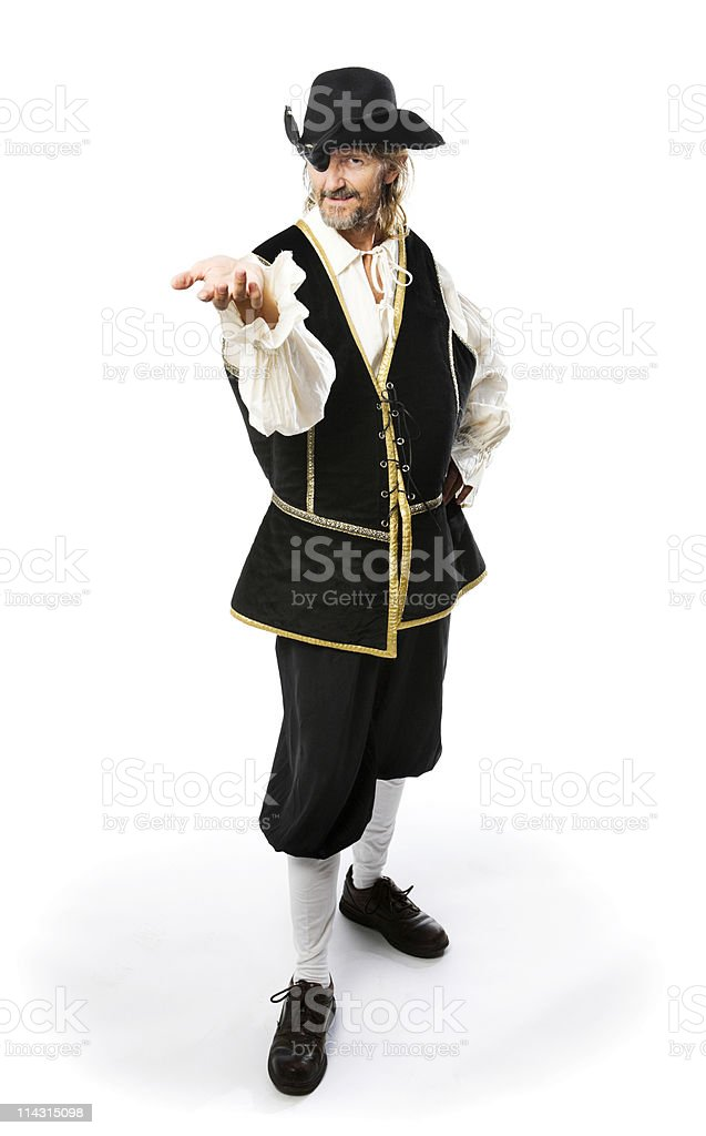 Pirate giving you something royalty-free stock photo