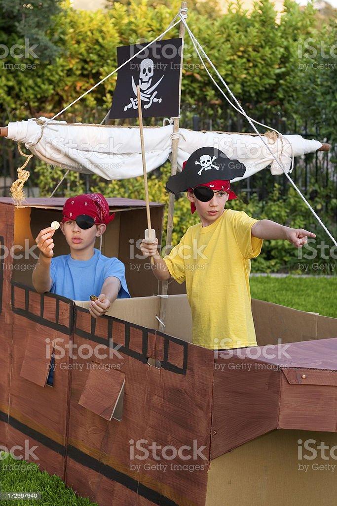 Pirate Kids royalty-free stock photo