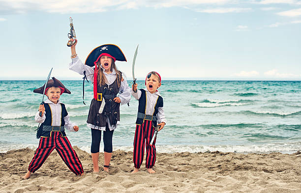 pirate kids - pirates stock photos and pictures