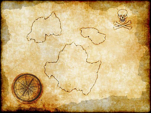 Pirata Mapa del vintage papel - foto de stock