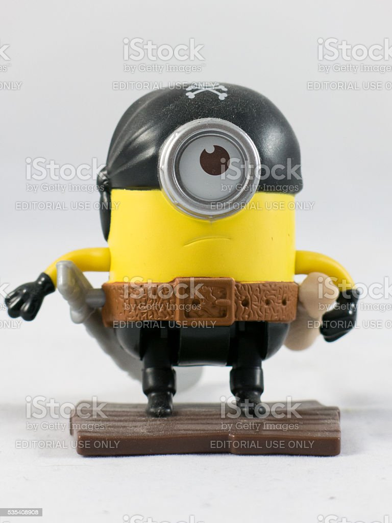 Pirate Minion Action Figure Isolated On White Stock Photo More Royalty Free