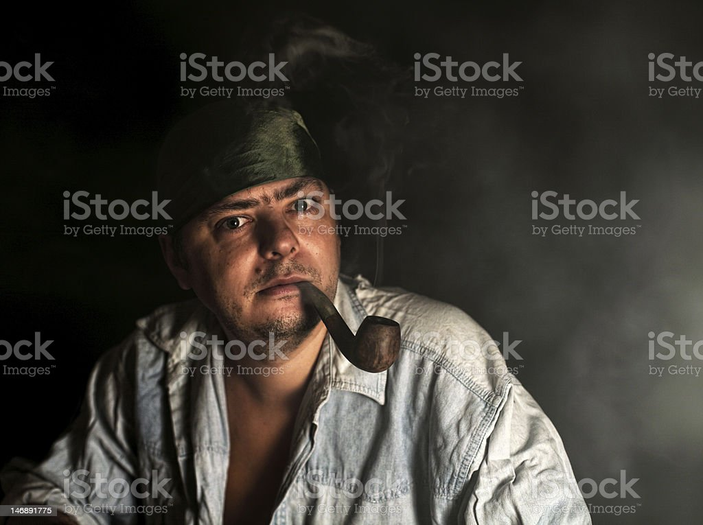 Pirate of XXI century royalty-free stock photo
