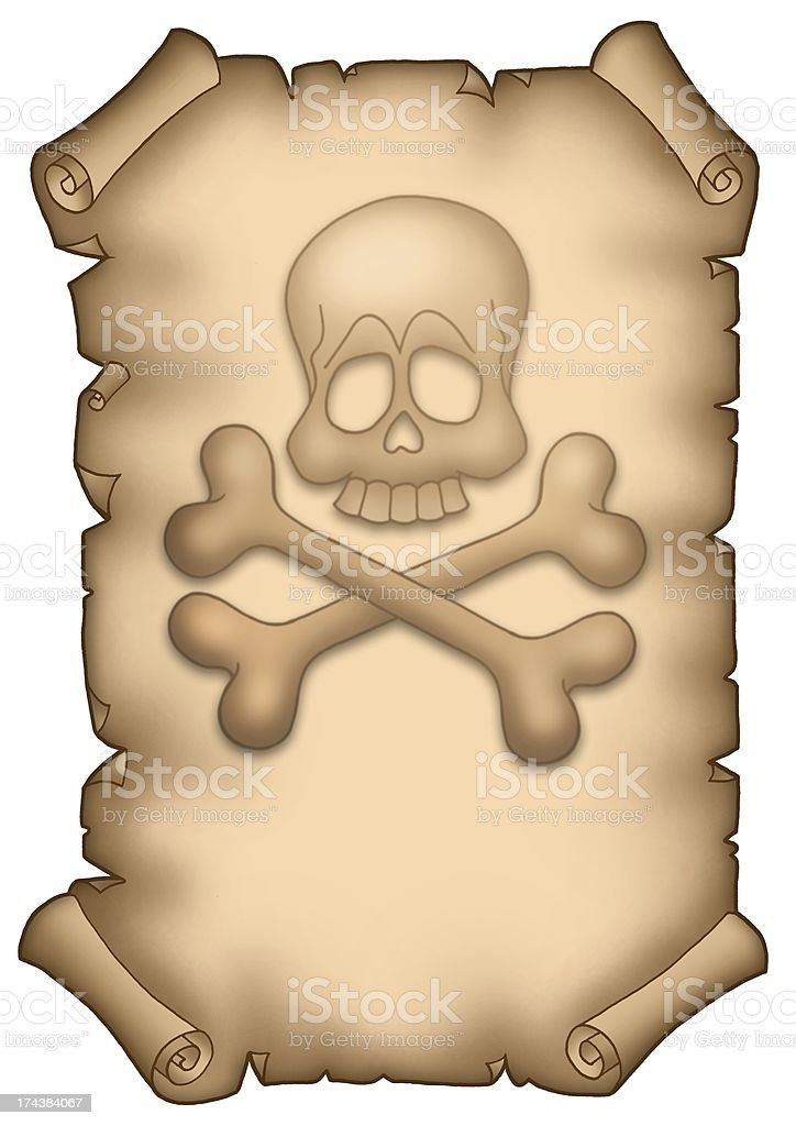 Pirate parchment A4 royalty-free stock photo