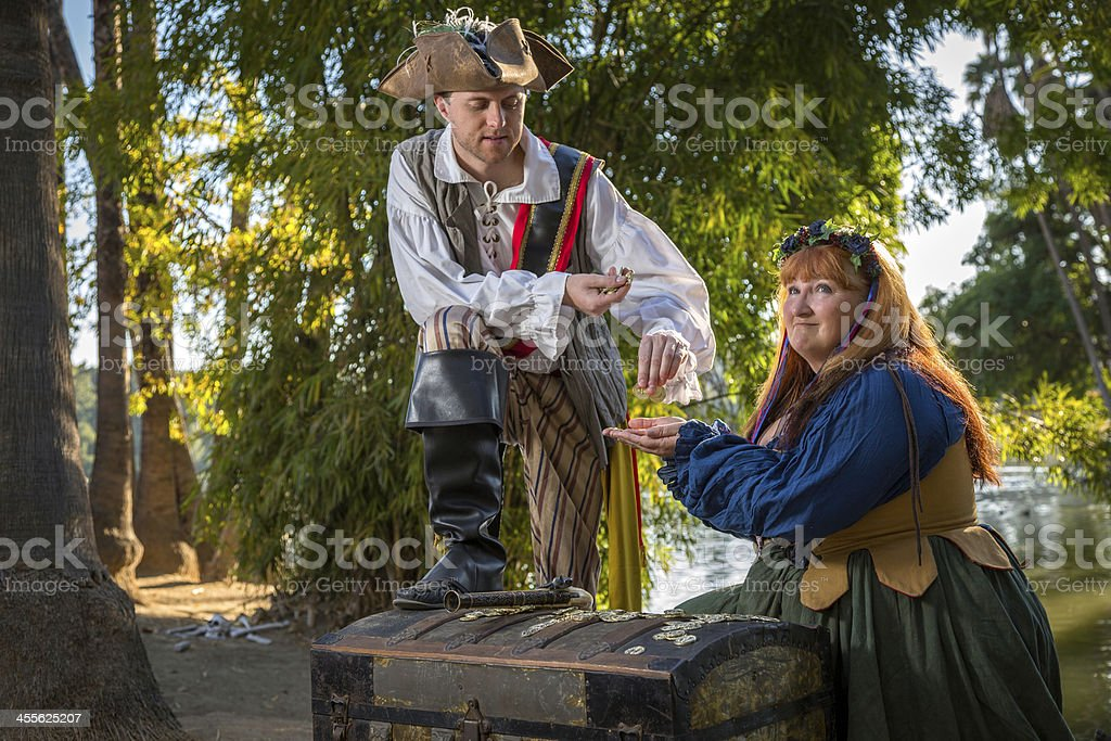Pirate Pays Wench stock photo