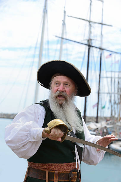 pirate - swashbuckler stock photos and pictures