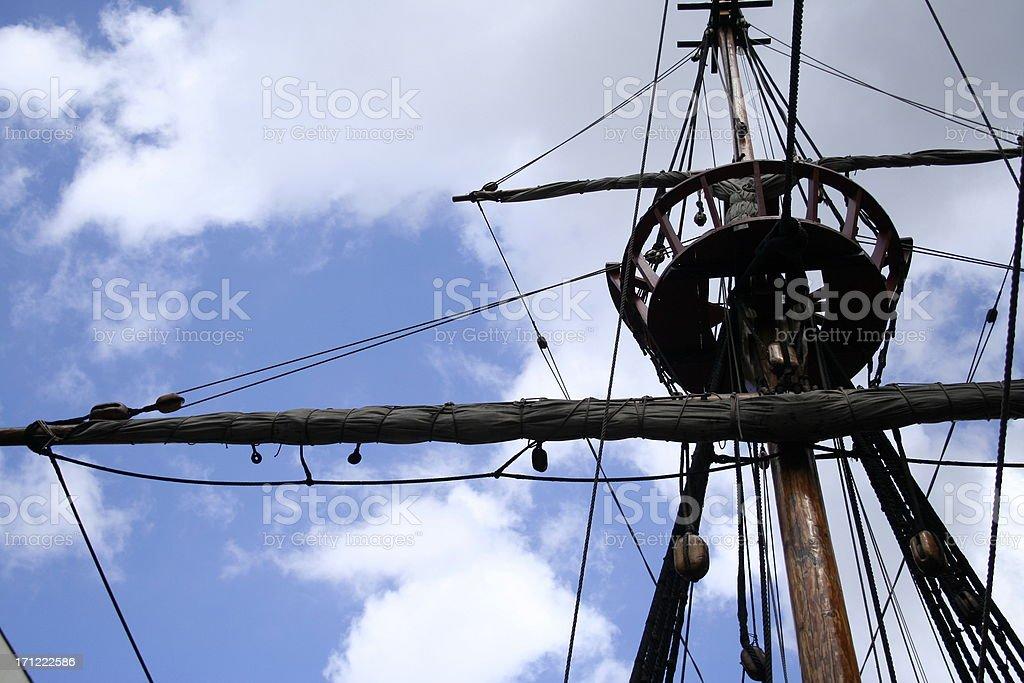 Pirate Rigging stock photo