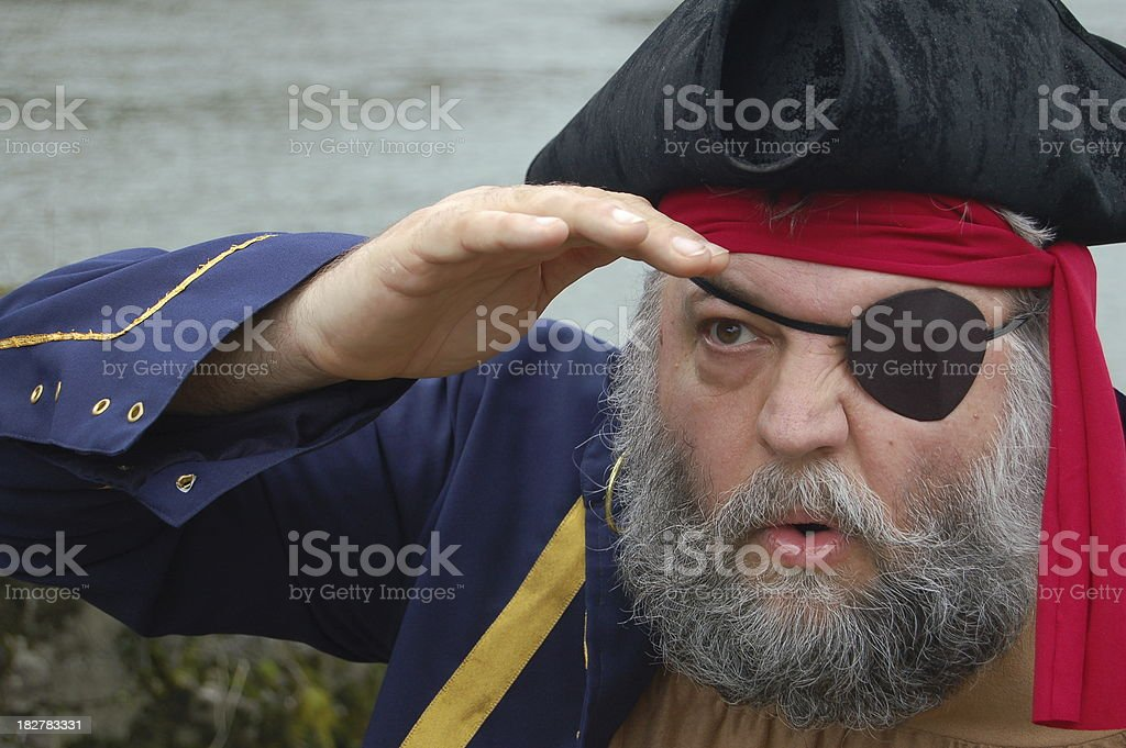 Pirate Scouting stock photo