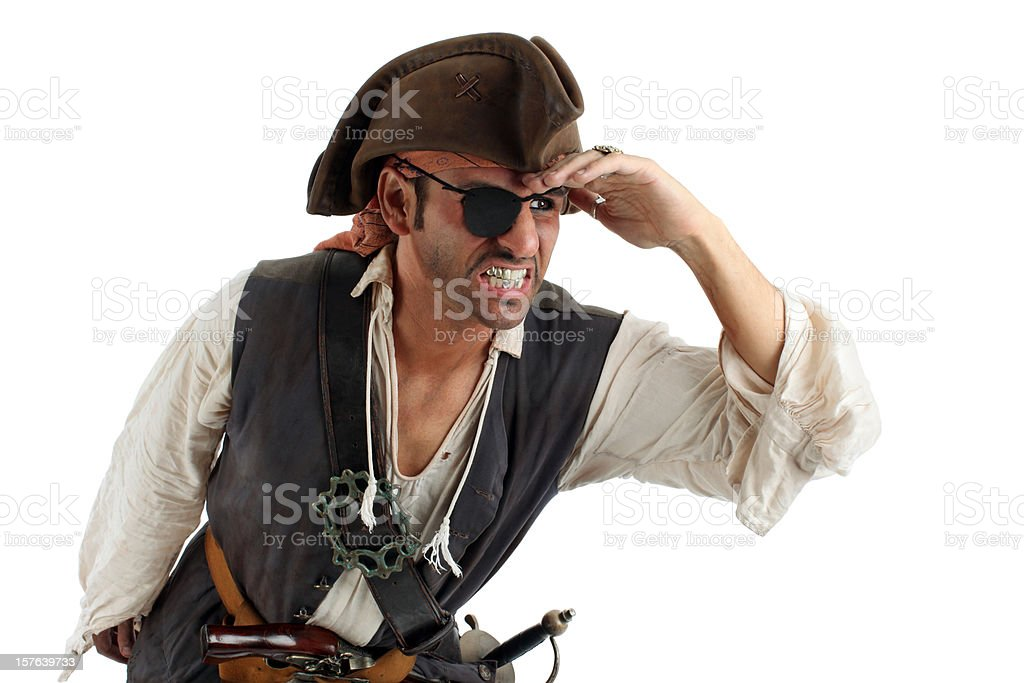 Pirate Searching stock photo
